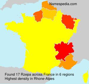 Familiennamen Rzepa - France