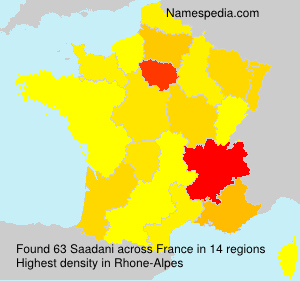 Surname Saadani in France
