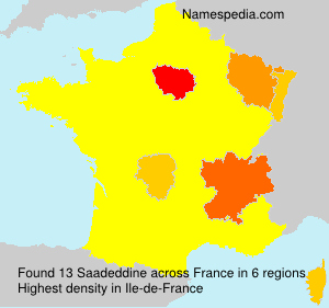 Surname Saadeddine in France