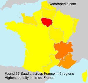Surname Saadia in France