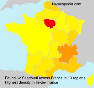 Surname Saadouni in France
