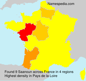 Surname Saanoun in France