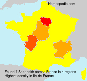Surname Sabandith in France