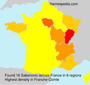 Surname Sabanovic in France