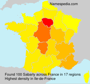 Surname Sabarly in France