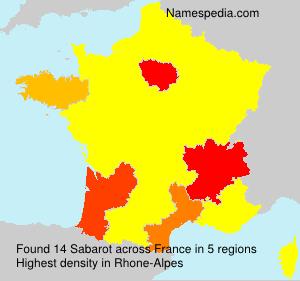 Surname Sabarot in France