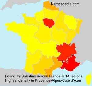 Familiennamen Sabatino - France
