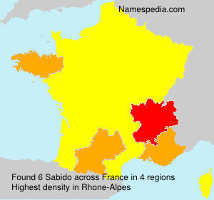 Surname Sabido in France