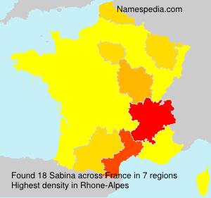Surname Sabina in France