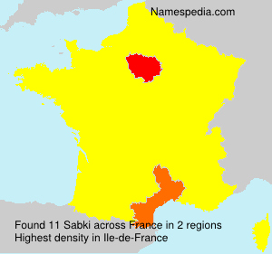 Surname Sabki in France