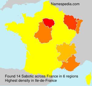 Familiennamen Sabotic - France