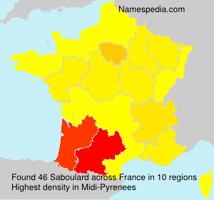 Surname Saboulard in France