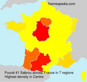 Surname Sabrou in France