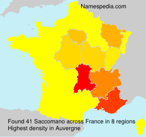 Surname Saccomano in France