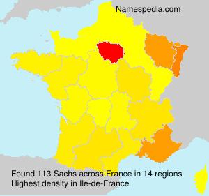 Familiennamen Sachs - France