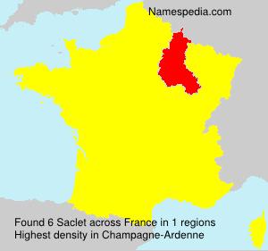 Surname Saclet in France
