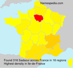 Surname Sadaoui in France