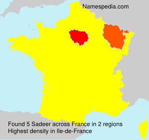 Surname Sadeer in France