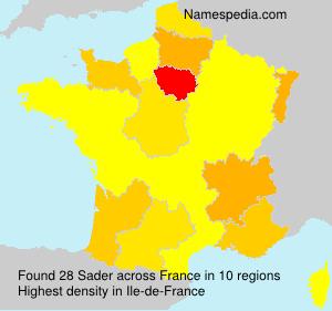 Familiennamen Sader - France