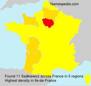 Surname Sadkiewicz in France