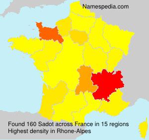 Surname Sadot in France