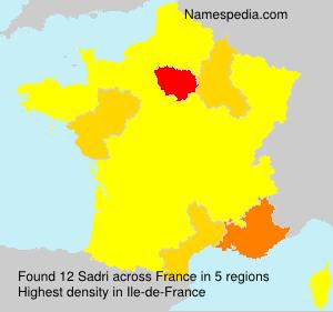 Surname Sadri in France