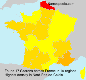 Surname Saerens in France