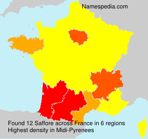 Surname Saffore in France