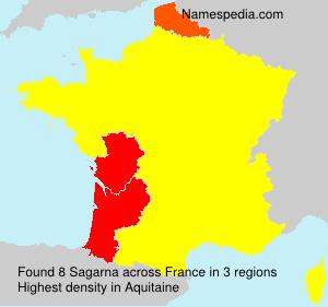 Surname Sagarna in France