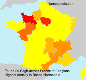 Surname Sagir in France