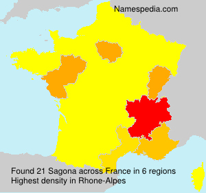 Familiennamen Sagona - France
