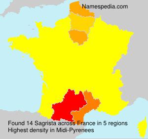 Surname Sagrista in France