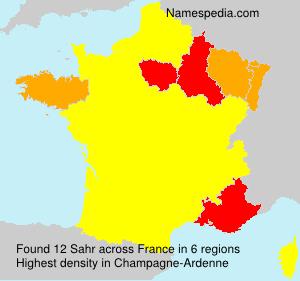 Surname Sahr in France