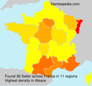 Surname Sailer in France
