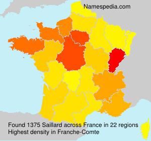 Familiennamen Saillard - France