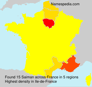 Surname Saiman in France