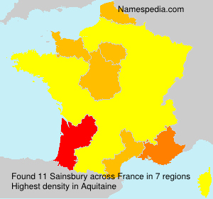 Surname Sainsbury in France