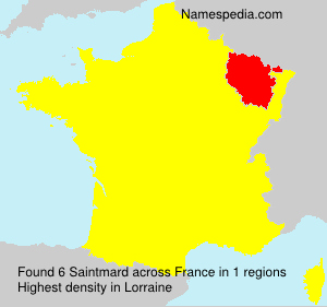 Surname Saintmard in France