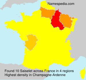Surname Saiselet in France