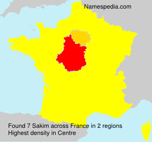 Surname Sakim in France