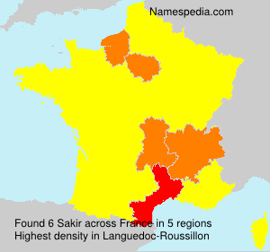 Surname Sakir in France