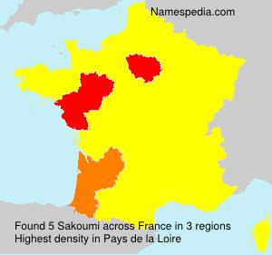 Familiennamen Sakoumi - France