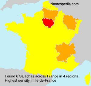 Familiennamen Salachas - France