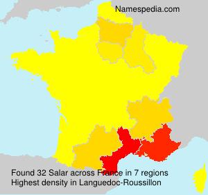 Surname Salar in France