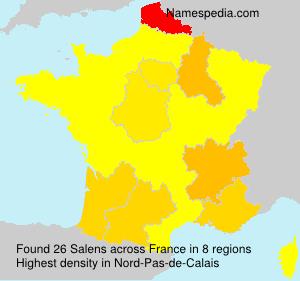 Surname Salens in France