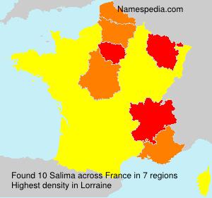 Surname Salima in France