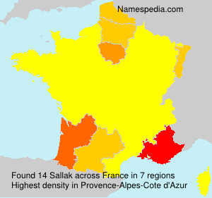 Surname Sallak in France