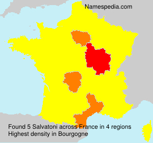 Surname Salvatoni in France