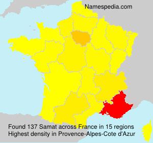 Familiennamen Samat - France