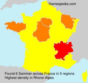 Surname Sammer in France
